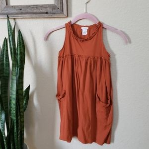 Crewcuts Burnt Orange Tank Dress Size 6/7